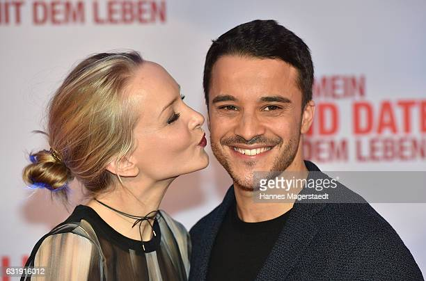 Actor Kostja Ullmann and Janin Ullmann during the 'Mein Blind Date mit dem Leben' Munich Premiere at Mathaeser Filmpalast on January 17 2017 in...