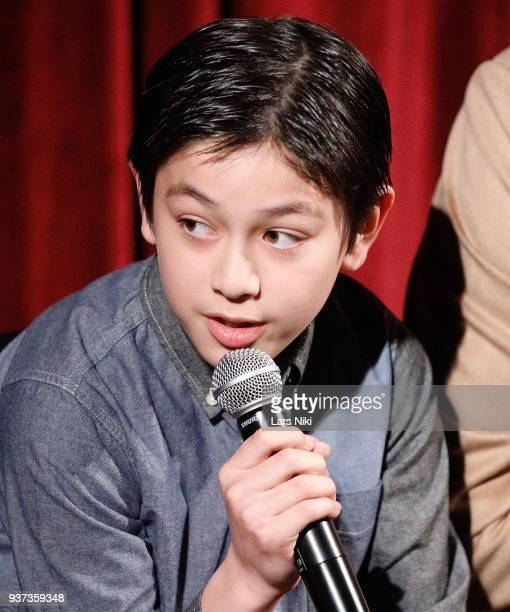 Actor Koyu Rankin on stage during The Academy of Motion Picture Arts Sciences Official Academy Screening of Isle of Dogs at the MOMA Celeste Bartos...
