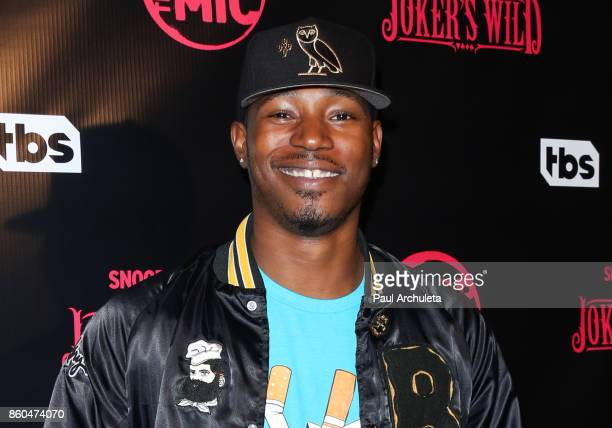 "Actor Kris D. Lofton attends the premiere for TBS's ""Drop The Mic"" and ""The Joker's Wild"" at The Highlight Room on October 11, 2017 in Los Angeles,..."