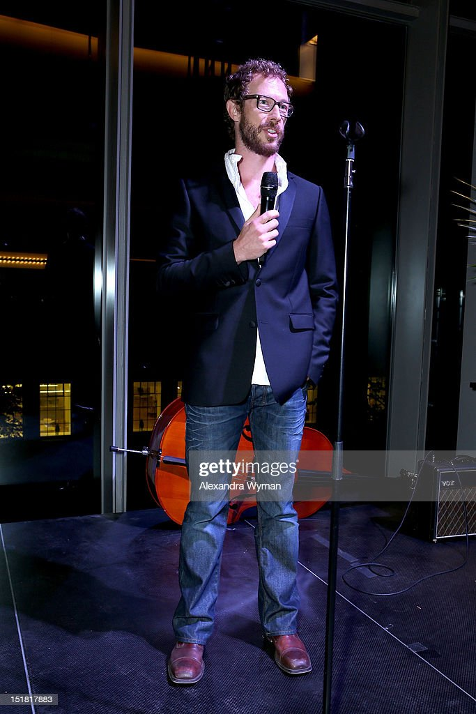 Actor Kris Holden-Ried speaks onstage at the FINCA Canada Fundraiser At TIFF 2012 during the Toronto International Film Festival on September 11, 2012 in Toronto, Canada.
