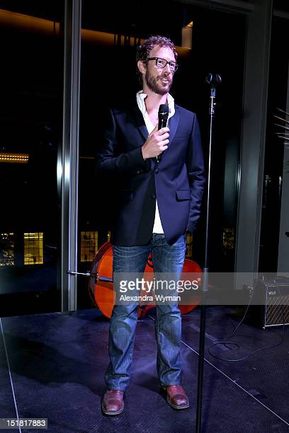 Actor Kris HoldenRied speaks onstage at the FINCA Canada Fundraiser At TIFF 2012 during the Toronto International Film Festival on September 11 2012...