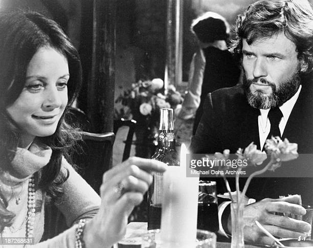 Actor Kris Kristofferson and Sarah Miles on set of the movie'The Sailor Who Fell from Grace with the Sea' in 1976