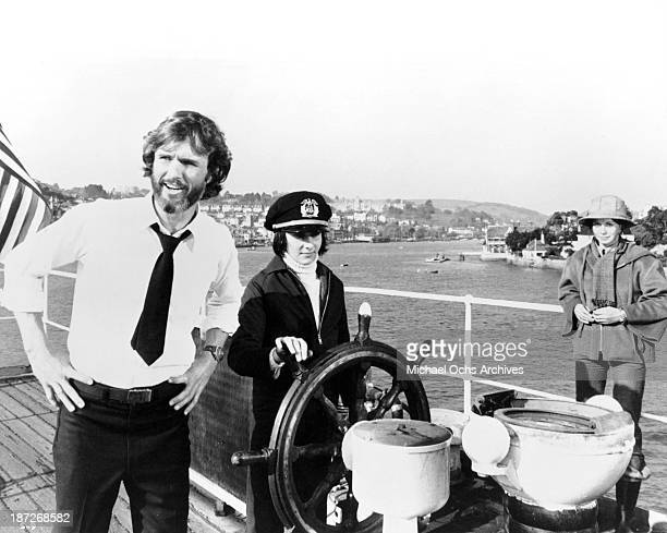 Actor Kris Kristofferson on set of the movie'The Sailor Who Fell from Grace with the Sea' in 1976