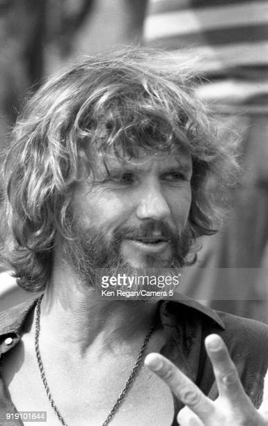 Actor Kris Kristopherson is photographed on the set of 'A Star is Born' in 1976 at Sun Devil Stadium in Tempe Arizona CREDIT MUST READ Ken...