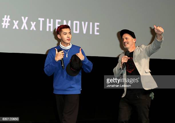 Actor Kris Wu and Director D J Caruso attend the LA Screening of Paramount Pictures xXx RETURN OF XANDER OF CAGE at the Paramount Theatre on the...