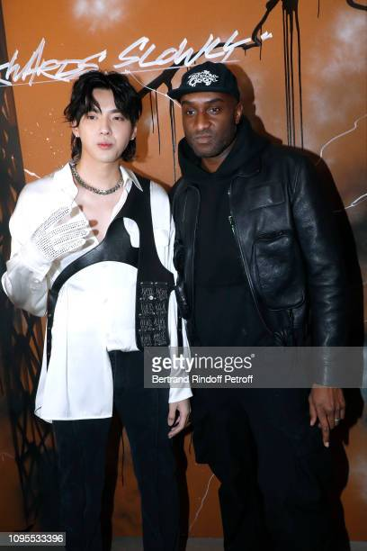 Actor Kris Wu and Stylist Virgil Abloh pose after the Louis Vuitton Menswear Fall/Winter 20192020 show as part of Paris Fashion Week on January 17...