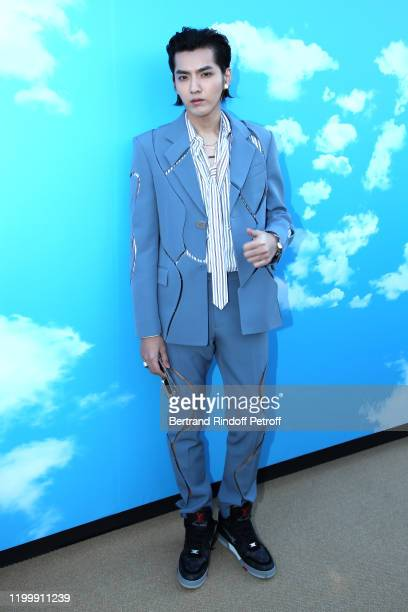 Actor Kris Wu attends the Louis Vuitton Menswear Fall/Winter 20202021 show as part of Paris Fashion Week on January 16 2020 in Paris France