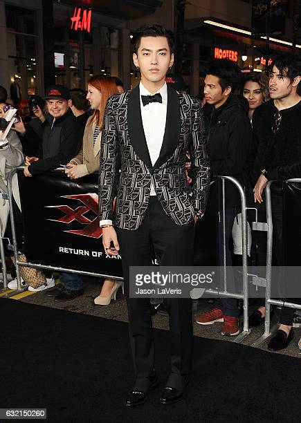 Actor Kris Wu attends the premiere of 'xXx Return of Xander Cage' at TCL Chinese Theatre IMAX on January 19 2017 in Hollywood California