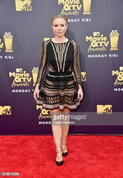 Actor Kristen Bell attends the 2018 MTV Movie And TV Awards at Barker Hangar on June 16 2018 in Santa Monica California