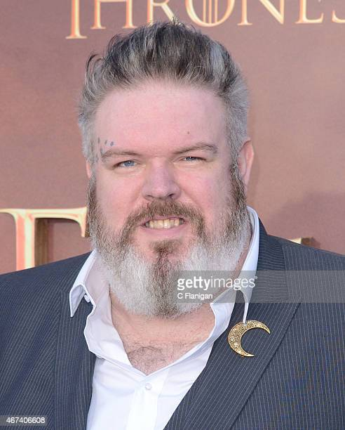 Actor Kristian Nairn attends HBO's 'Game of Thrones' Season 5 Premiere at the San Francisco War Memorial Opera House on March 23 2015 in San...