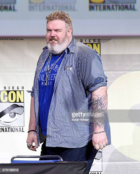 Actor Kristian Nairn attends the 'Game Of Thrones' panel during ComicCon International 2016 at San Diego Convention Center on July 22 2016 in San...