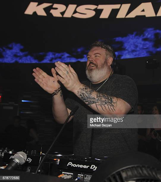 Actor Kristian Nairn DJs at Nylon and NVE The Experience Agency Present AfterCon Celebrating the Women of Wonder at Omnia Nightclub on July 21 2016...