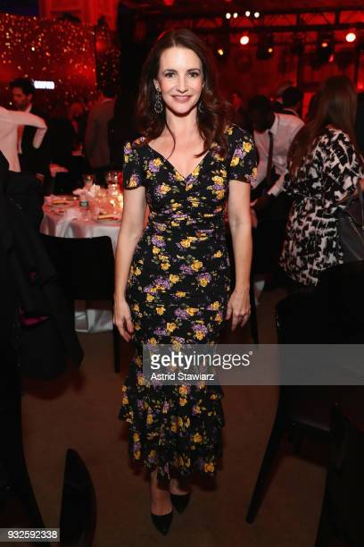 Actor Kristin Davis attends the 2018 AE Upfront on March 15 2018 in New York City