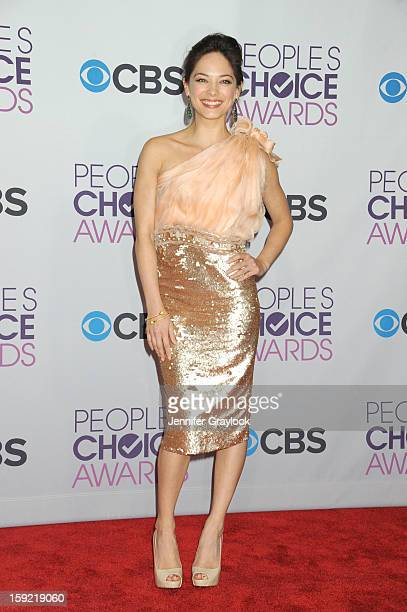 Actor Kristin Kreuk attends the 2013 People's Choice Awards Press Room held at Nokia Theatre LA Live on January 9 2013 in Los Angeles California