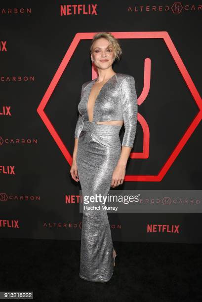 Actor Kristin Lehman attends the World Premiere of the Netflix Original Series Altered Carbon on February 1 2018 in Los Angeles California