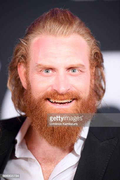 Actor Kristofer Hivju attends The Fate Of The Furious New York Premiere at Radio City Music Hall on April 8 2017 in New York City