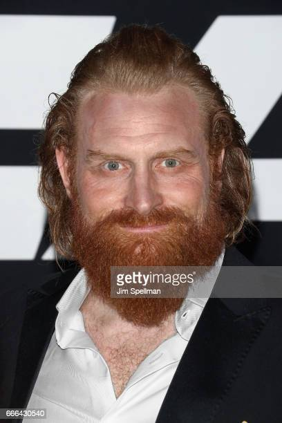Actor Kristofer Hivju attends 'The Fate Of The Furious' New York premiere at Radio City Music Hall on April 8 2017 in New York City