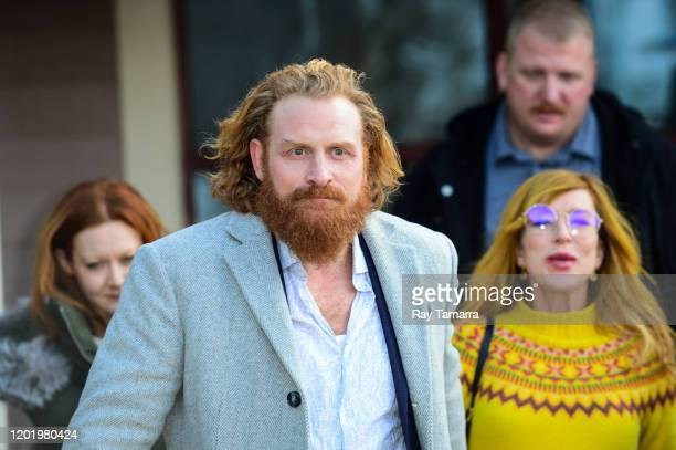 Actor Kristofer Hivju walks on Main Street on January 25 2020 in Park City Utah
