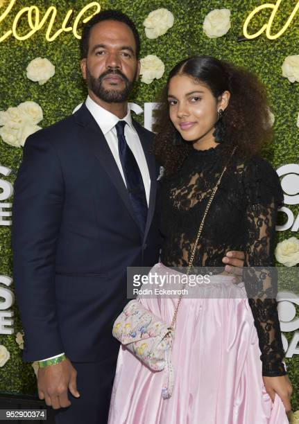 Actor Kristoff St John and daughter Paris St John attend the CBS Daytime Emmy After Party at Pasadena Convention Center on April 29 2018 in Pasadena...