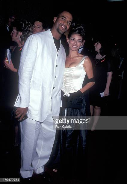 Actor Kristoff St John and girlfriend Allana Nadal attend the 23rd Annual Daytime Emmy Awards on May 22 1996 at Radio City Music Hall in New York City