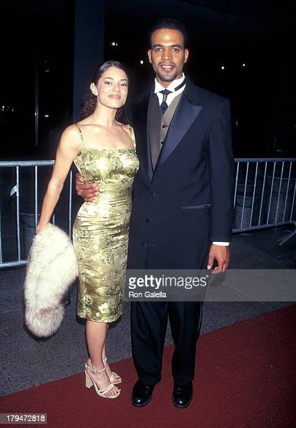 Actor Kristoff St John and girlfriend Allana Nadal attend the 25th Annual Daytime Emmy Awards on May 15 1998 at Radio City Music Hall in New York City