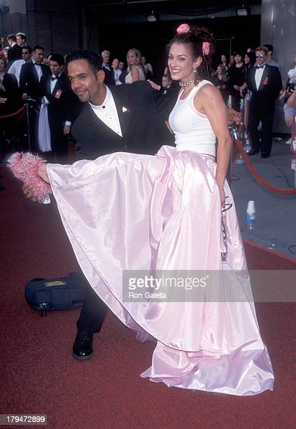 Actor Kristoff St John and girlfriend Allana Nadal attend the 26th Annual Daytime Emmy Awards on May 21 1999 at Radio City Music Hall in New York City
