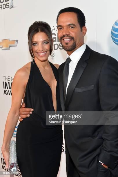 Actor Kristoff St John and guest attend the 44th NAACP Image Awards at The Shrine Auditorium on February 1 2013 in Los Angeles California