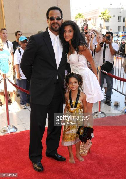 Actor Kristoff St John and guests arrives at the 35th Annual Daytime Emmy Awards at the Kodak Theatre on June 20 2008 in Los Angeles California