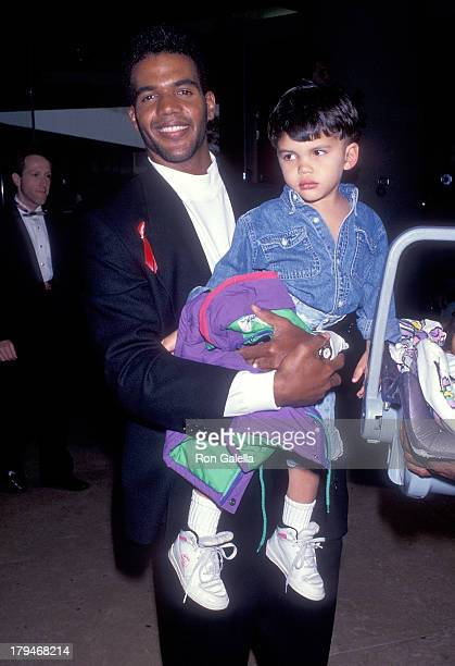 Actor Kristoff St John and son Julian attend the Ninth Annual Soap Opera Digest Awards on February 26 1993 at the Beverly Hilton Hotel in Beverly...