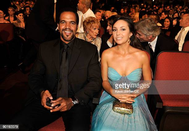 Actor Kristoff St John and wife Allana Nadal attend the 36th Annual Daytime Emmy Awards at The Orpheum Theatre on August 30 2009 in Los Angeles...
