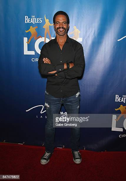 Actor Kristoff St John attends the 10th anniversary celebration of The Beatles LOVE by Cirque du Soleil at The Mirage Hotel Casino on July 14 2016 in...
