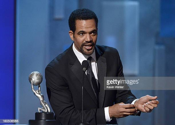 Actor Kristoff St John onstage during the 44th NAACP Image Awards at The Shrine Auditorium on February 1 2013 in Los Angeles California