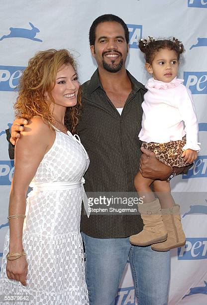 Actor Kristoff St John wife Allana Nadal and daughter arrive at PETA's 15th Anniversary Gala and Humanitarian Awards at Paramount Studios on...