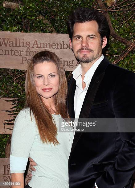 Actor Kristoffer Polaha and wife actress Julianne Morris attend the opening night of Into the Woods at the Wallis Annenberg Center for the Performing...