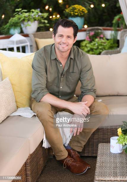 Actor Kristoffer Polaha visits Hallmark Channel's Home Family at Universal Studios Hollywood on September 11 2019 in Universal City California