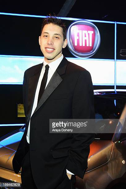 Actor Kristopher Maslardzievski attends Fiat's Into The Green at the 70th Annual Golden Globe Awards held at The Beverly Hilton Hotel on January 13...