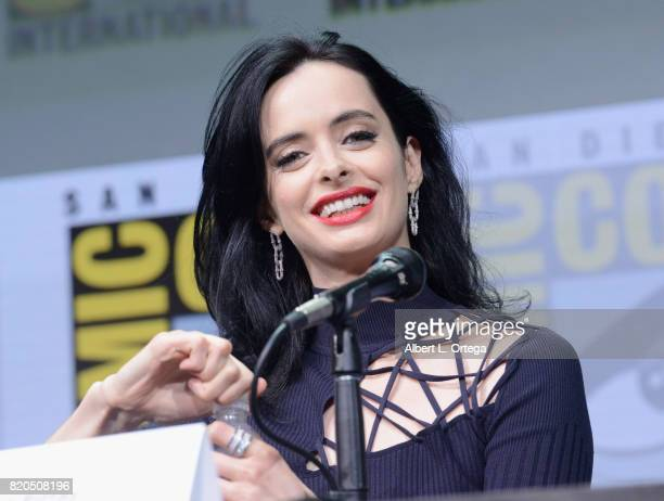 Actor Krysten Ritter speaks onstage at Netflix's 'The Defenders' panel during ComicCon International 2017 at San Diego Convention Center on July 21...