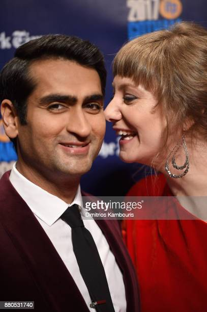 Actor Kumail Nanjiani and Screenplay writer Emily V Gordon attend IFP's 27th Annual Gotham Independent Film Awards on November 27 2017 in New York...