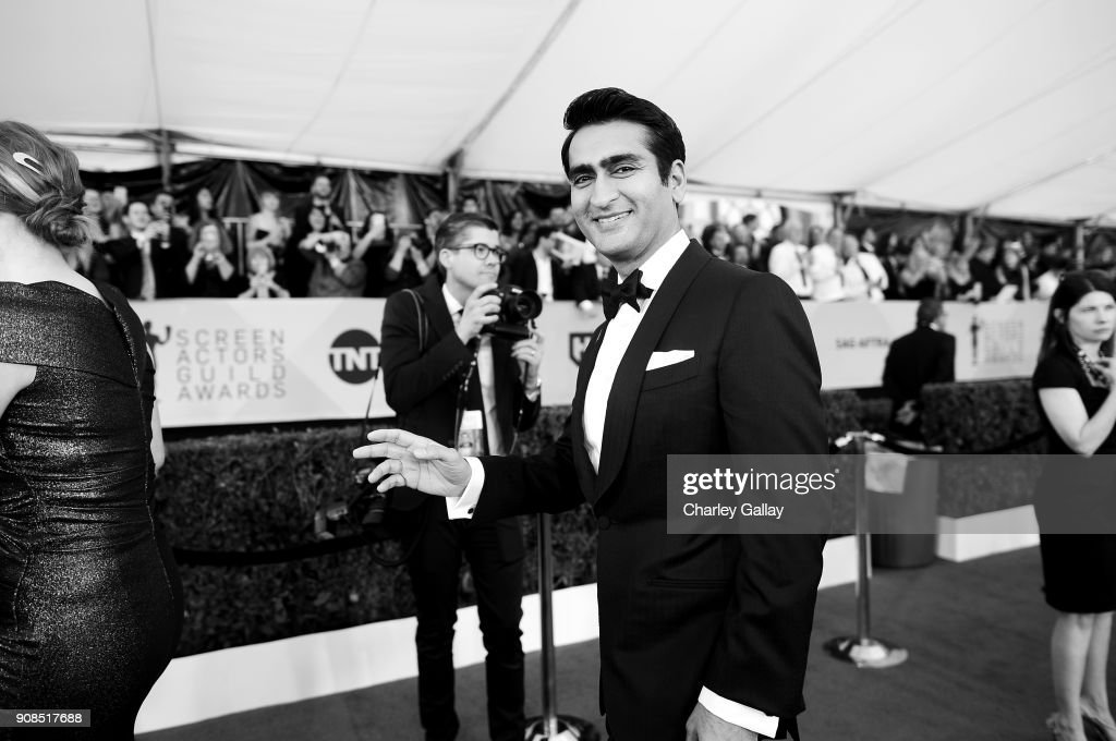 Actor Kumail Nanjiani attends the 24th Annual Screen Actors Guild Awards at The Shrine Auditorium on January 21, 2018 in Los Angeles, California. 27522_008
