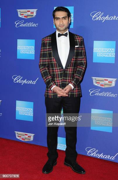 Actor Kumail Nanjiani attends the 29th Annual Palm Springs International Film Festival Awards Gala at Palm Springs Convention Center on January 2...