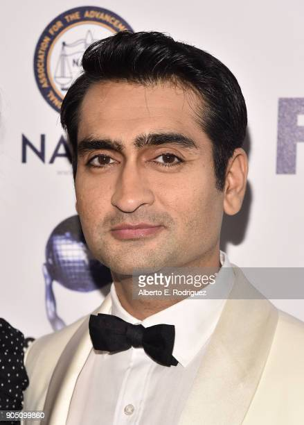 Actor Kumail Nanjiani attends the 49th NAACP Image Awards NonTelevised Award Show at The Pasadena Civic Auditorium on January 14 2018 in Pasadena...