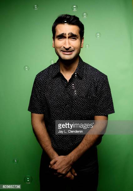 Actor Kumail Nanjiani from the film The Lego Ninjago Movie is photographed in the LA Times photo studio at ComicCon 2017 in San Diego CA on July 21...