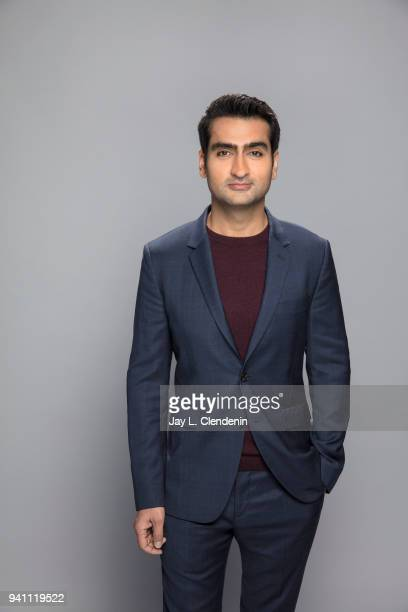 Actor Kumail Nanjiani of 'Silicon Valley', is photographed for Los Angeles Times on March 17, 2018 at the PaleyFest at the Dolby Theatre in...