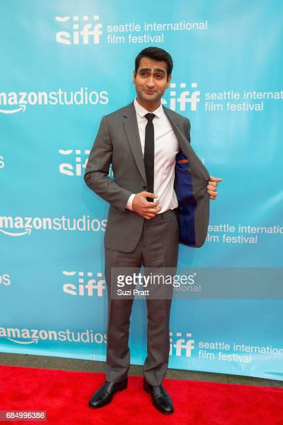 Actor Kumail Nanjiani poses for a photo at the opening night gala of the Seattle International Film Festival on May 18 2017 in Seattle Washington