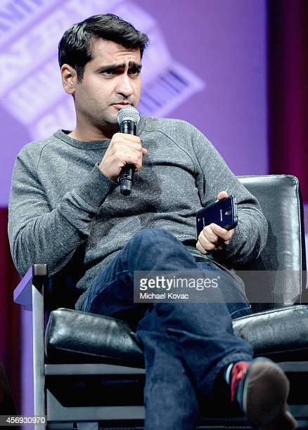Actor Kumail Nanjiani speaks onstage during How to Earn Thousands Making Comedy at the Vanity Fair New Establishment Summit at Yerba Buena Center for...