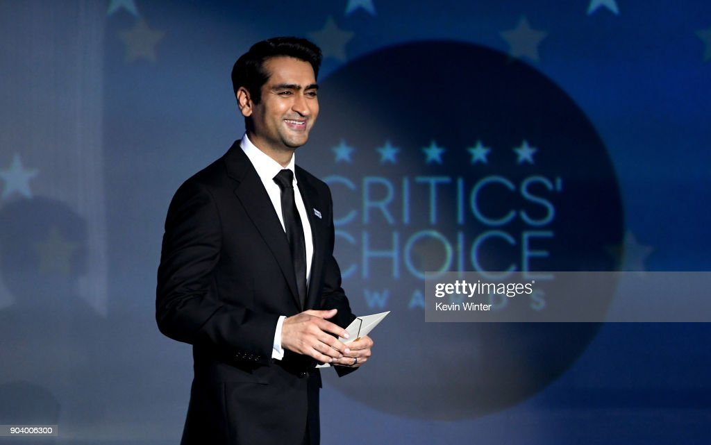 Actor Kumail Nanjiani speaks onstage during The 23rd Annual Critics' Choice Awards at Barker Hangar on January 11, 2018 in Santa Monica, California.