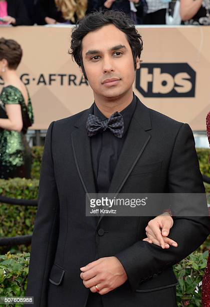 Actor Kunal Nayyar attends the 22nd Annual Screen Actors Guild Awards at The Shrine Auditorium on January 30 2016 in Los Angeles California