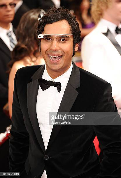 Actor Kunal Nayyar attends the 65th annual Primetime Emmy Awards at Nokia Theatre LA Live on September 22 2013 in Los Angeles California