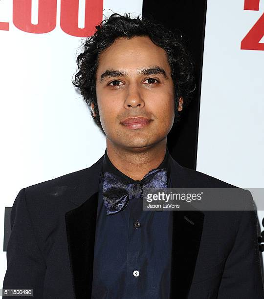 """Actor Kunal Nayyar attends """"The Big Bang Theory"""" 200th episode celebration at Vibiana on February 20, 2016 in Los Angeles, California."""