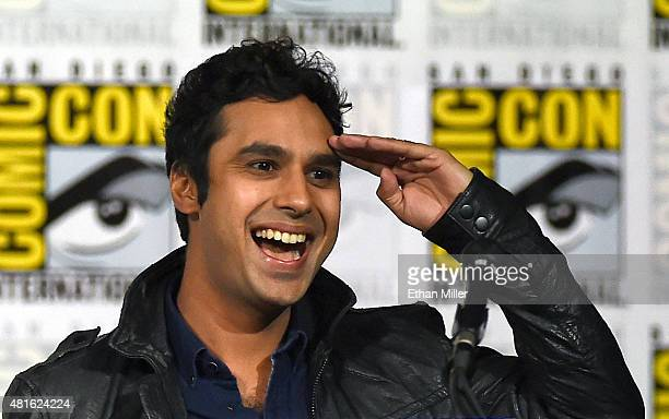 "Actor Kunal Nayyar moderates the Inside ""The Big Bang Theory"" Writer's Room panel during Comic-Con International 2015 at the San Diego Convention..."